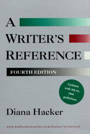 image of Writer's Reference (with 1999 MLA Update)