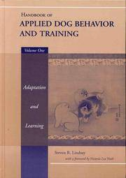 image of Handbook of Applied Dog Behavior and Training, Vol. 1:  Adaptation and Learning