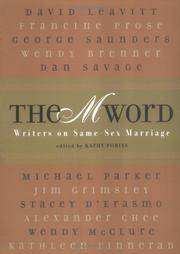 m word - writers on same-sex marriage