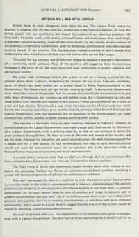 British General Election Manifestos, 1900-74