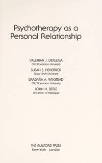 Psychotherapy As a Personal Relationship