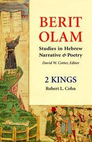 Berit Olam: Studies in Hebrew Narrative & Poetry: 2 Kings