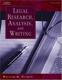 Legal Research, Analysis, and Writing (West Legal Studies)