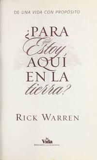 image of ¿para que estoy aquí en la tierra? (Spanish Edition)