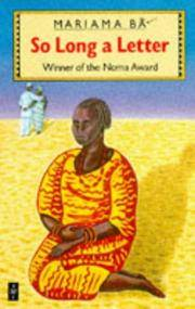 So Long a Letter (African Writers Series) B, Mariama