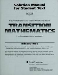 UCSMP Transition Mathematics Solution Manual (University of Chicago School Mathematics Project)