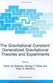 The Gravitational Constant: Generalized Gravitational Theories And Experiments (nato Science...