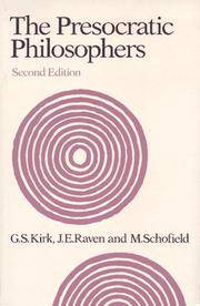 The Presocratic Philosophers (2nd Revised Edition)