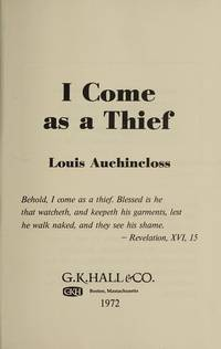 I COME AS A THIEF                     (SIGNED)
