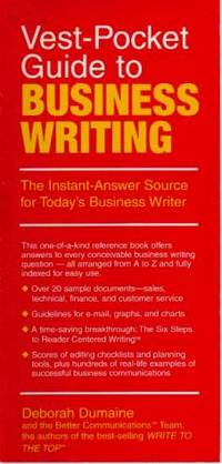 Vest-Pocket Guide to Business Writing  The Instant-Answer Source for  Today's Business Writer
