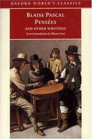Pensees and Other Writings (Oxford World's Classics)