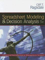 Spreadsheet Modeling and Decision Analysis (with CD-ROM and Microsoft Project 2003 120 day version)