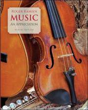 Music: An Appreciation by Roger Kamien - Hardcover - 2006-06-08 - from Books Express and Biblio.co.uk