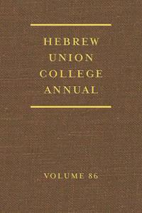 Hebrew Union College Annual (86)