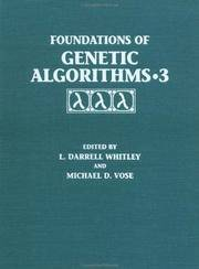 Foundations of Genetic Algorithms: v. 3 (Volume 3) by  L Whitley - Hardcover - 1995 - from Anybook Ltd (SKU: 7371958)