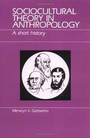 Sociocultural Theory in Anthropology  A Short History