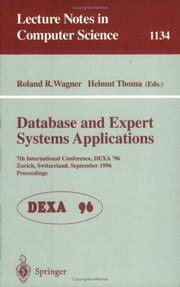 Database & Expert Systems Applications : 7th International Conference,  DEXA 96, Zurich, Switzerland, September 1996: Proceedings (Lecture Notes  in Computer Science)