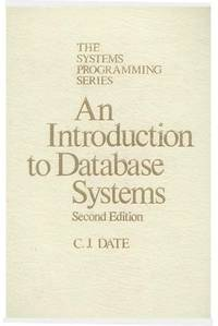 image of Introduction to Data Base Systems (The Systems programming series)