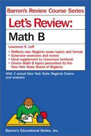 Let's Review Math B