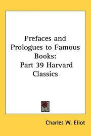 image of Prefaces and Prologues to Famous Books: Part 39 Harvard Classics