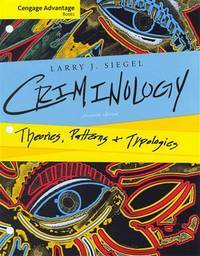 image of Criminology: Theories, Patterns, and Typologies