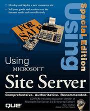 Special Edition Using Microsoft Site Server (Special Edition Using)