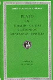 image of Plato: Timaeus, Critias, Cleitophon, Menexenus, Epistles (Loeb Classical Library No. 234)
