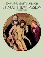 St Matthew Passion In Full Score