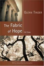 The Fabric of Hope: An Essay (Emory University Studies in Law and Religion)