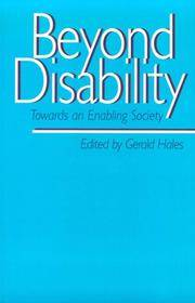 Beyond Disability: Towards an Enabling Society (Published in association with The Open University)