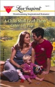 A Child Shall Lead Them (The Minister's Daughters Trilogy #2) (Love Inspired #150)
