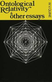 Ontological Relativity and Other Essays.