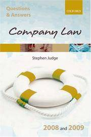 Q & A: Company Law 2008 and 2009 (Blackstone's Law Questions and Answers)