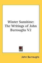 image of Winter Sunshine: The Writings of John Burroughs V2