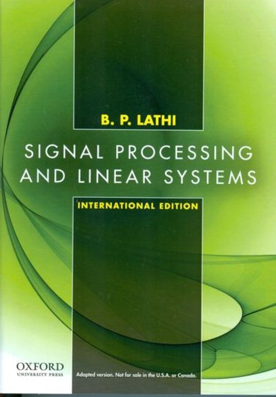 signal processing and linear systems pdf download
