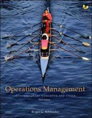 Operations Management: Contemporary Concepts and Cases with Student CD-ROM