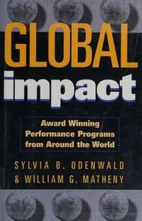 Global Impact: Award Winning Performance Programs from Around the World