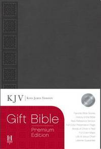 KJV Gift Bible, Gray LeatherTouch Premium Edition