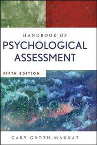 Handbook of Psychological Assessment (5th Hardcover Edition)