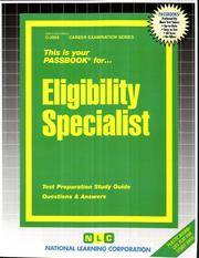 Eligibility Specialist (Career Examination Series) by Jack Rudman - 1/1/2004 - from Legendary Assets and Biblio.com