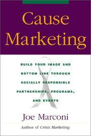 Cause Marketing by Joe Marconi - Hardcover - from Discover Books and Biblio.com