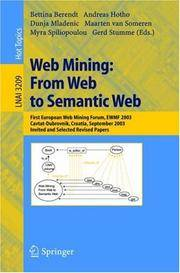 Web Mining: From Web to Semantic Web: First European Web Mining Forum, EWMF 2003,...