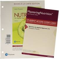 image of Nutrition: An Applied Approach, Books a la Carte Plus Mastering Nutrition with MyDietAnalysis with Pearson eText -- Access Card Package
