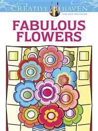 Fabulous Flowers Coloring Book