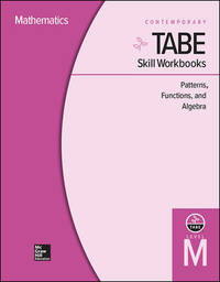 TABE Skill Workbooks Level M: Patterns, Functions, Algebra - 10 Pack (Achieving TABE Success for...