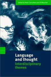LANGUAGE AND THOUGHT : Interdisciplinary Themes