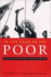 In the Name of the Poor; Contesting Political Space for Poverty Reduction
