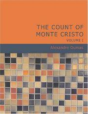 image of The Count of Monte Cristo, Volume 1