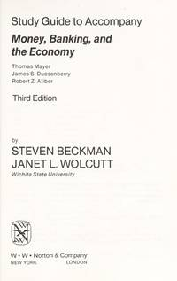 Money, Banking and the Economy: Study Gde.to 3r.e