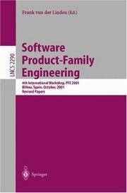 Software Product-Family Engineering: 4th International Workshop, Pfe 2001, Bilbao, Spain, October 3-5, 2001 Revised Papers